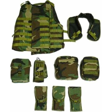 King Arms MPS Rifleman SAPI Vest Deluxe Package - Woodland