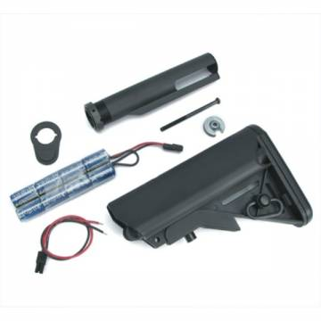 King Arms Special Force Crane Stock w/ pipe and 1400mAh-9.6V