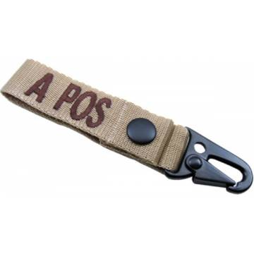 King Arms Blood Type Strap Holder - A - TAN
