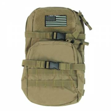 King Arms MPS SF Hydration Backpack w/ Flag - TAN