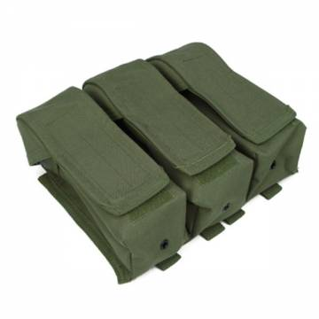 King Arms MPS DA Triple AK Ammo Pouch - OD