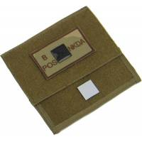 King Arms MPS Map Pouch - TAN - Blood Type B