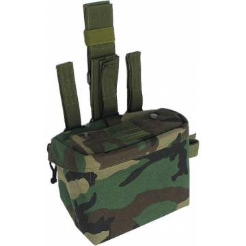 King Arms DA Utility Drop Leg Pouch - Woodland