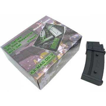 King Arms G36 95 Rds Mag. Box Set (5pcs)