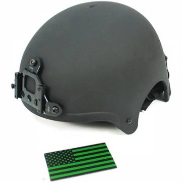King Arms IBH Helmet w/ NVG Mount - Black