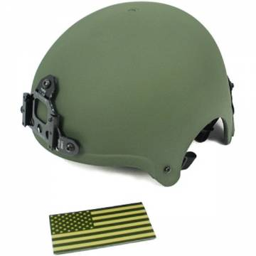 King Arms IBH Helmet w/ NVG Mount - Olive