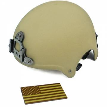 King Arms IBH Helmet w/ NVG Mount - TAN