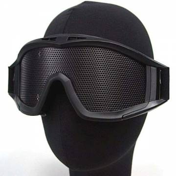 Metal Mesh DL Style Goggle - Black