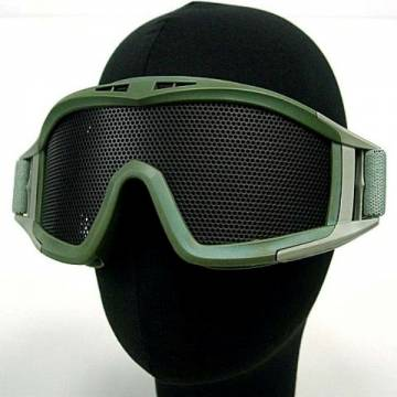 Metal Mesh DL Style Goggle - Olive Drab