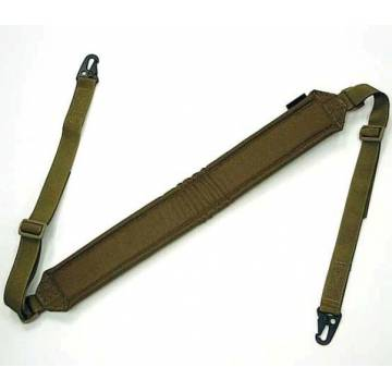 LMG Shoulder Padded Rifle Sling - Coyote Brown