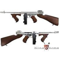 King Arms Thompson M1928 Real Wood - Full Metal - Silver