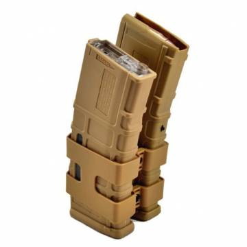 Double Electric P-Mag for M4/Masada 1000rds (TAN)
