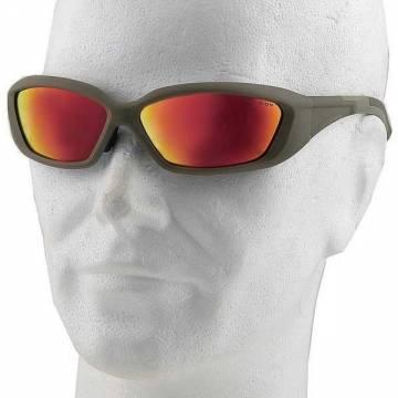 Revision Hellfly Ballistic Eyewear (Khaki-Flame Mirror)