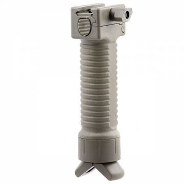 Vertical Grip with Integated Bipod - TAN