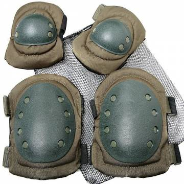 Knee and Elbow Pads Set - Olive Drab