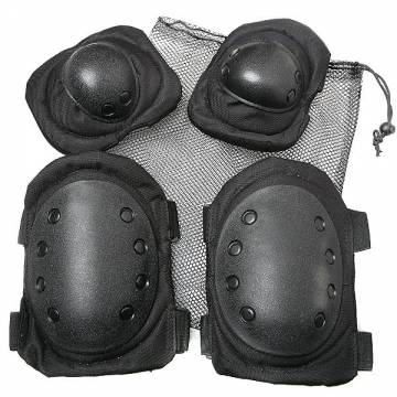 Knee and Elbow Pads Set - Black