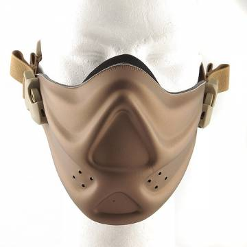 Hard Foam Neoprene Half Face Mask - Bronze