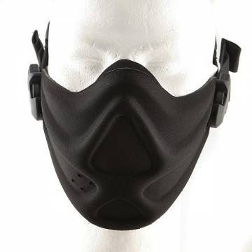 Hard Foam Neoprene Half Face Mask - Black