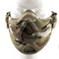 Hard Foam Neoprene Half Face Mask - Multicam