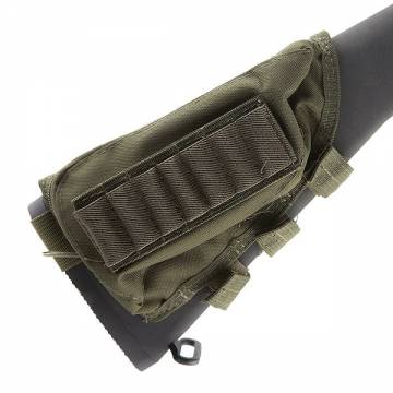 Shotgun Ammo Pouch Cheek Pad - Olive Drab